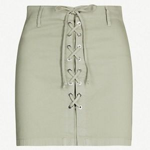J Brand Size 23 Talia Skirt Lace Up Corset